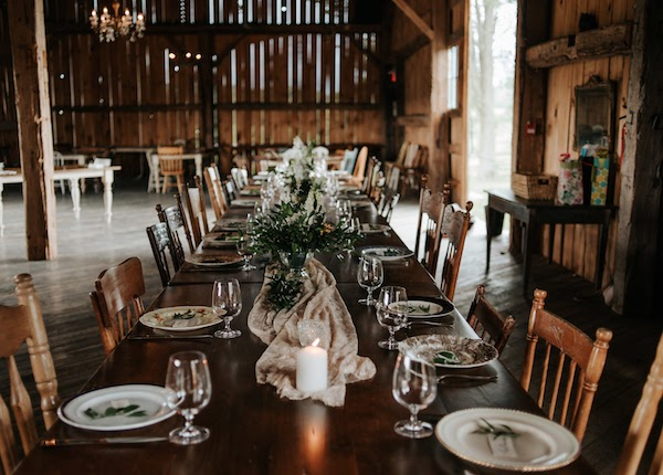 Family lunch gathering at South Pond Farms in Pontypool